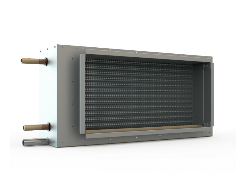 Cold-water duct cooler for fitting in rectangular ducts - Solid Air